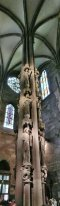 Angels Pillar in Strasbourg Cathedral (Alsace, France)