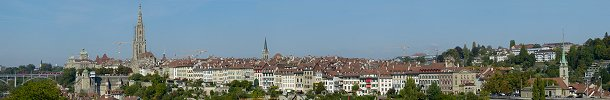 Latest panorama published: The City of Bern with the Federal Palace and the Cathedral (Canton of Bern, Switzerland)